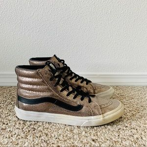Vans Authentic High-Top Metallic Sneakers sz 8